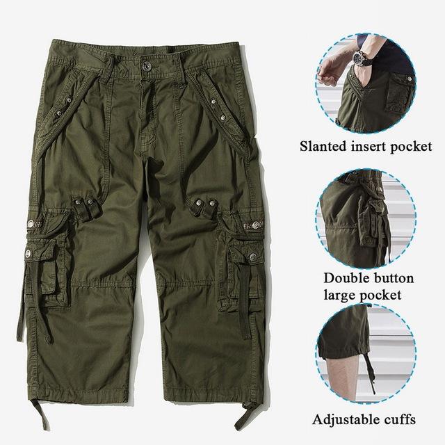 Pants Casual Workout Pants Military Basic Cargo Short Pants Multi Pockets Tactical Bottoms