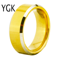 Free Shipping Cheap Price USA Russia Brazil Hot Sales 7MM Silver Beveled Gold Bridal Tungsten Carbide