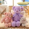 Ángel encantador oso de peluche, creativa oso muñeca bebé confort con alas, regalo de cumpleaños juguetes de peluche, regalos para los niños.