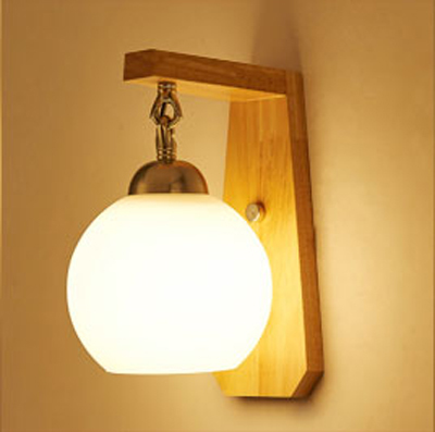 Modern minimalist creative wood wooden bedside lamp LED bedroom living room corridors with Gaestgiveriet Hotel wall 6016 creative european country wood chandeliers artistic for living room decoration modern minimalist style wooden e27 pendant lamp