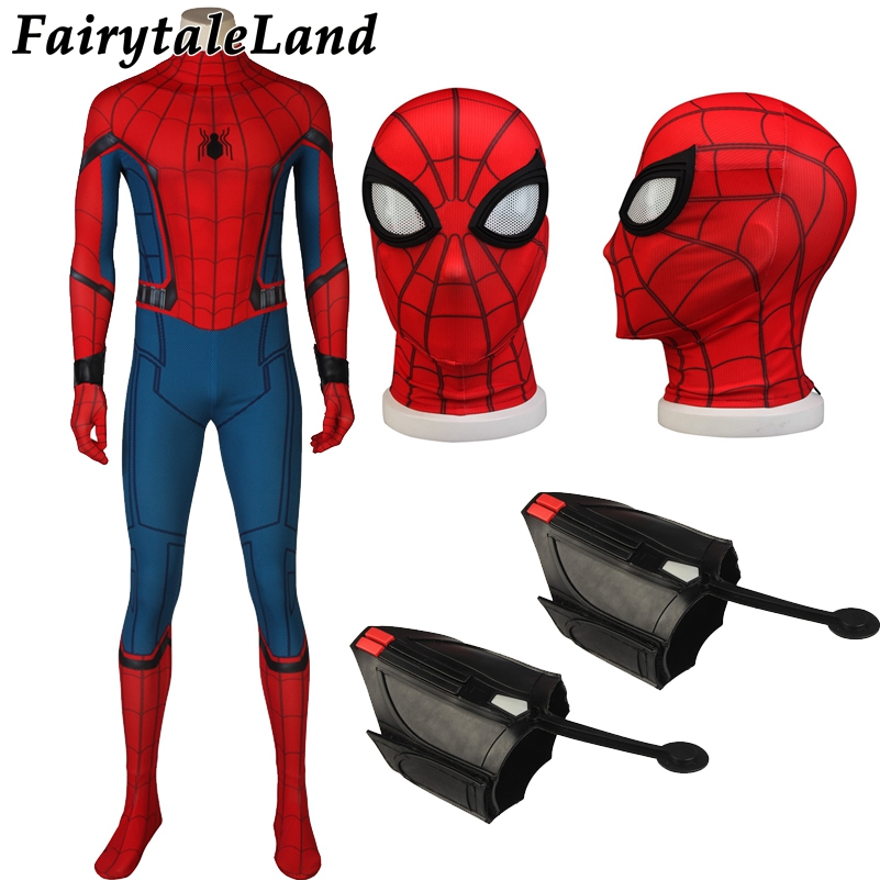 Spiderman Jumpsuit Spandex Superhero Jumpsuit Cosplay Spider Man Costume Captain America Civil War Spiderman Halloween Costume