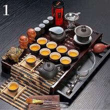 Günstige Ceramic Tea Set Binglie kung fu tee-set aus massivholz teetablett Dr. Freies Verschiffen Heißer Verkauf Teekanne