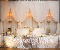 White 2 layers wedding Backdrop party decoration