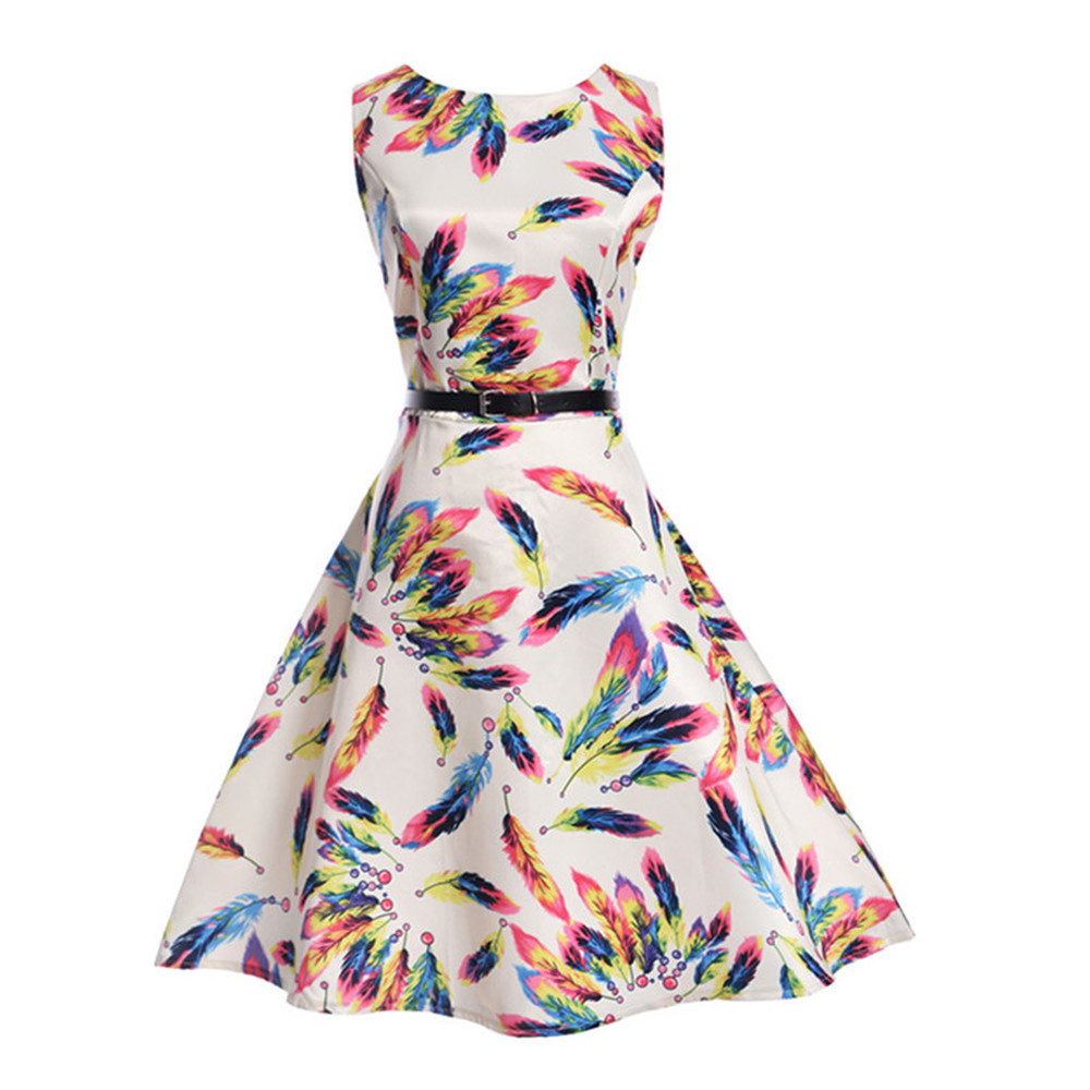 16b9b7e7450 New Baby Girls Floral Dress Summer Princess Birthday Party feather Dresses  7-14Yrs Girl s Fashion