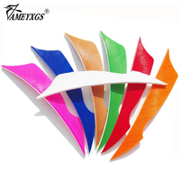 500pcs Archery 4 inch Arrow Feather Shield Cut Natural Turkey Vanes Fletching Right Wing for Hunting Compound Recurve Bow