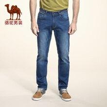 Camel 2016 Men Jeans Mid waist Zipper Straight Long Denim Trouser Male X6X316400
