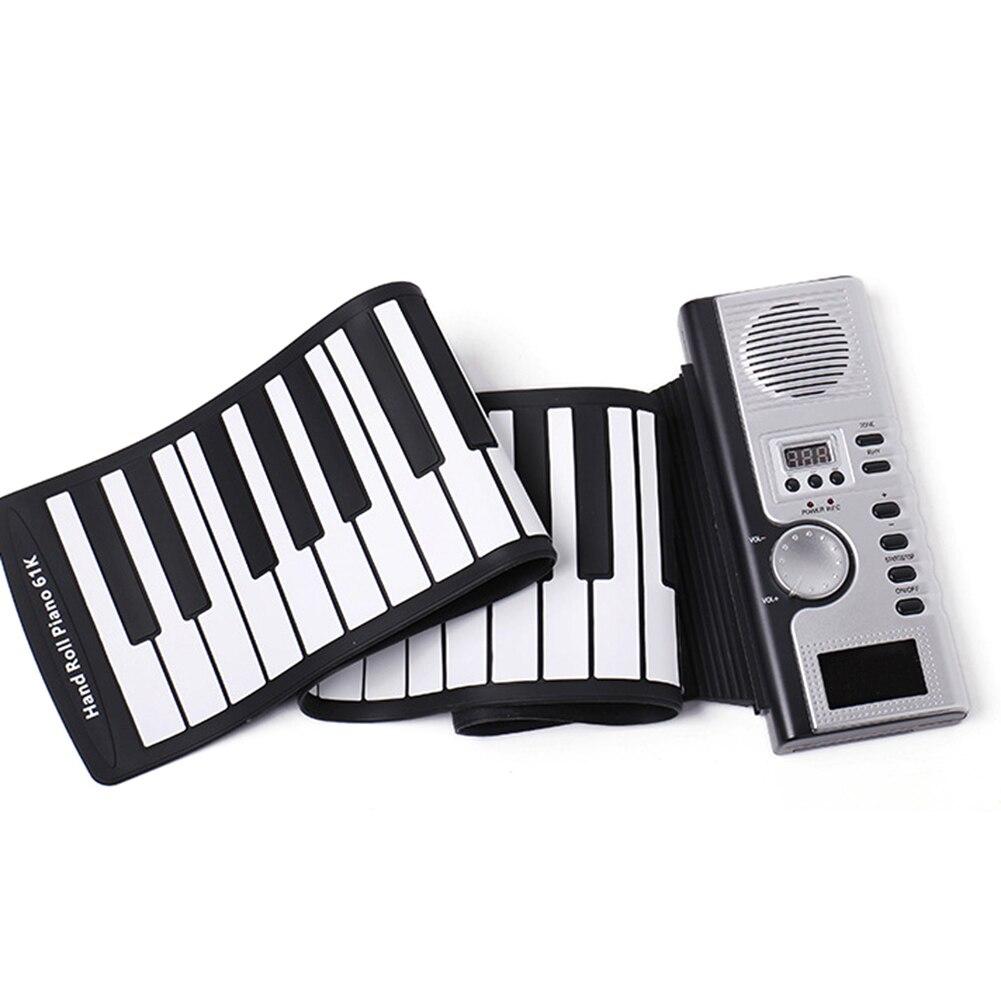 Portable Flexible 61 Touches En Silicone MIDI Numérique Souple Clavier Piano Électronique Flexible Roll Up Piano