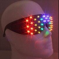 Rave Costume Party Supplies Novelty Colorful Led Luminous Glasses Light Up Illuminate Sunglasses Christmas Gift