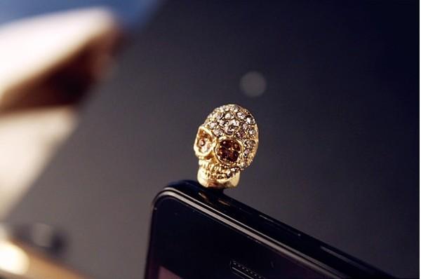 мода личности черепа стразами мобильная пылезащитные заглушки t9060
