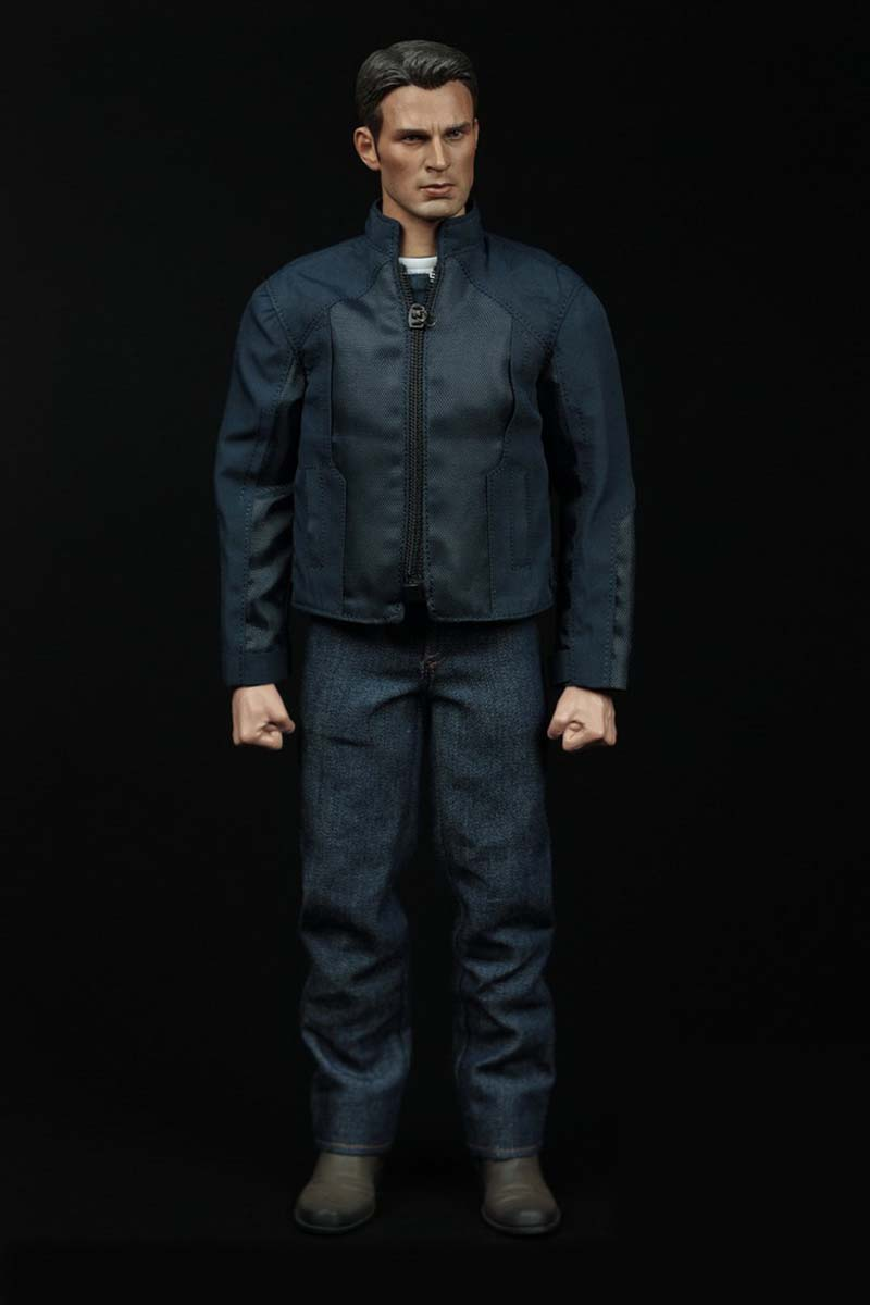Mnotht 1/6 Male Solider Captain America Suit Clothes Casual Jacket With Jeans For 12in Action Figure Toy l30 A002 Model Hobbies build a bear workshop captain america teddy bear in captain america costume