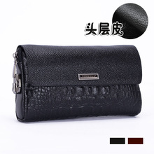 Genuine Crocodile leather hand bag man bags male leather LUXURY Long Wallet password lock clutch made of high-grade business