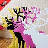 Creative Elk Reindeer Modelling Metal Bookends Restoring Ancient Ways Desktop Receive Arrange Bookends Aimed By A