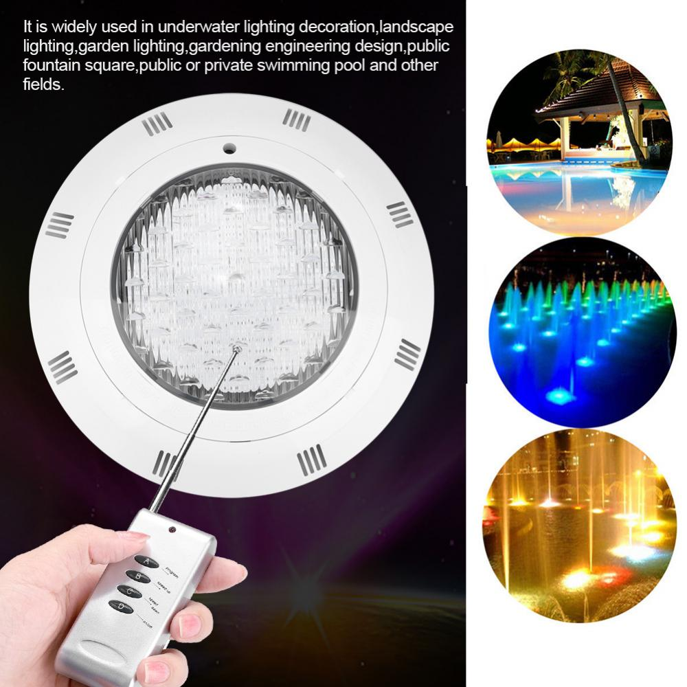 Underwater Swimming Pool Light IP68 Pond Lighting 30W 300 LED RGB Multi-Color LED Waterproof Landscape Lamp With Remote Control