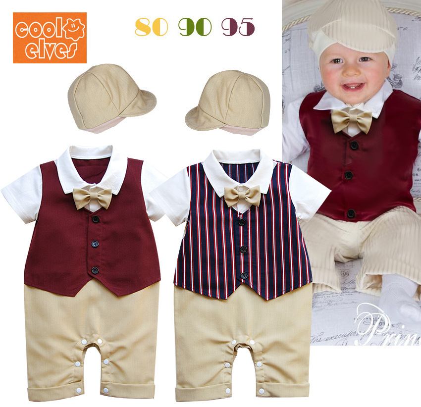 Comfort Gentleman Costume Rompers Hat Birthday Dress Wedding Clothes Brand For Baby Boys Enfant 4th Of July 80705 In From Mother Kids On