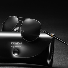 Aviation Sunglasses Men Polarized Driving Sun Glasses Mens Vintage Black Mirror