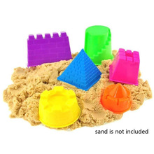 6pcs Child Kid Model Building Kits Portable Castle Sand Clay Mold Building Pyramid Sandcastle Beach Sand Toy(China)