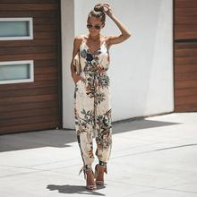 2019 New Yfashion Women Sexy Backless Lacing Pocket Straps V Neck Jumpsuit