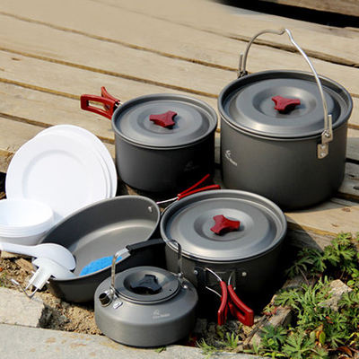 Fire Maple 6-7 Persons Cooking Pot Set Portable Outdoor Camping Tablewares Camp Cooking Cookware Picnic Outdoor Cutlery FMC-212 fire maple portable titanium flagon outdoor sake set camping wine pot with cup travel drinkware fmc 1703002 fmc 1703003
