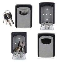 Caixa de bloqueio de chave com código para armazenamento de chave de casa  armário de porta combinado