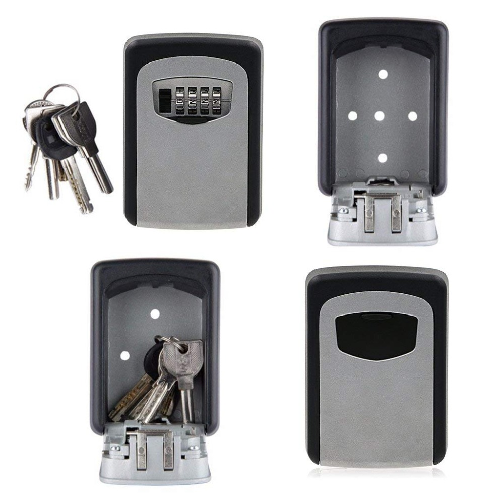 Key Lock Box Combination Lockbox With Code For House Key Storage, Combo Door Locker