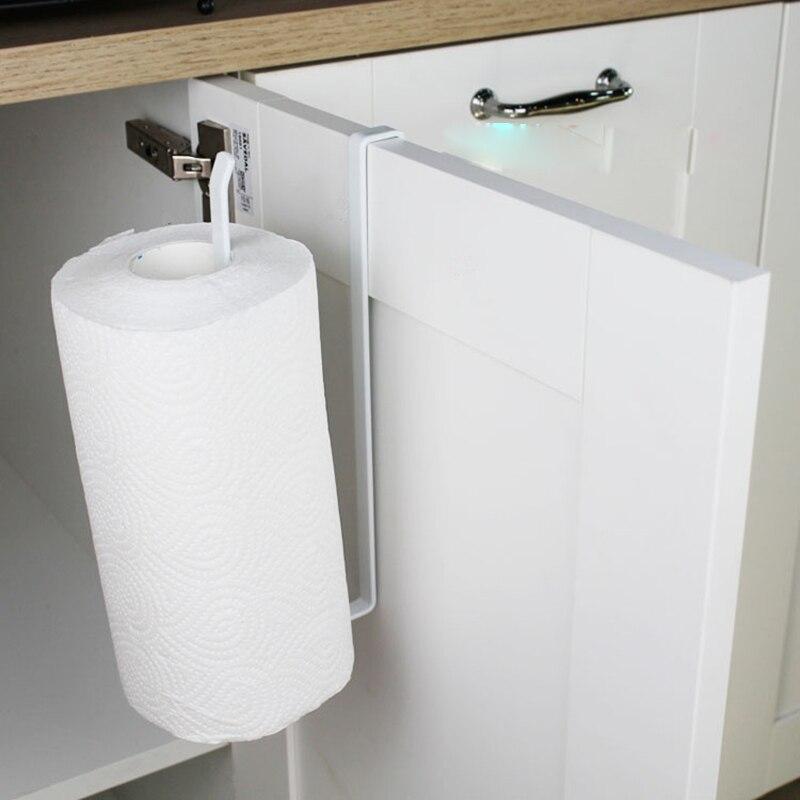 Wall Mounted Kitchen Cupboard Towel Rack Toilet Paper Holder Bathroom Roll Paper Holder