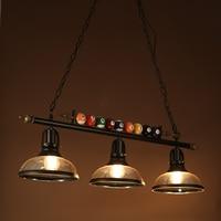 Nordic Billiard table pendant lamp droplight vintage iron glass shade bedroom dining room cafe restaurant pendant light