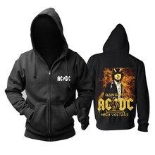 12 Дизайнов толстовка на молнии ACDC AC/DC Австралийский жесткий рок толстовки Панк sudadera уличная флисовая куртка верхняя одежда