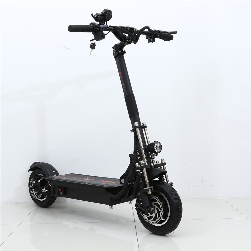 UBGO 1005 60V/52V Double Drive 2000W motor powerful electric scooter 10inch E-Scooter with oil brake
