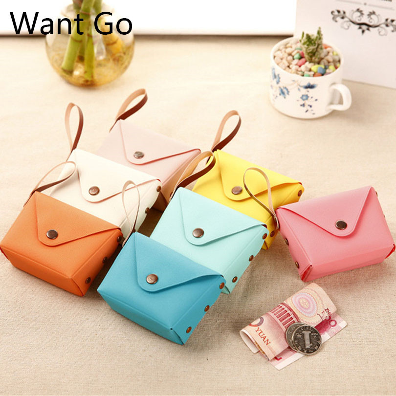 Want Go Children Pu Macaron Coin Purse Cute Candy Color Kids Coin Pouches Bag Fashion Square Small Purse Mini Change Wallet купить