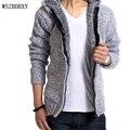 Homens jaqueta de 2017 Marca de Moda Masculina Jaquetas Com Capuz Zipper Placket Alta Qualidade Jacket Coats Mens Jaquetas Blusão XXL DD