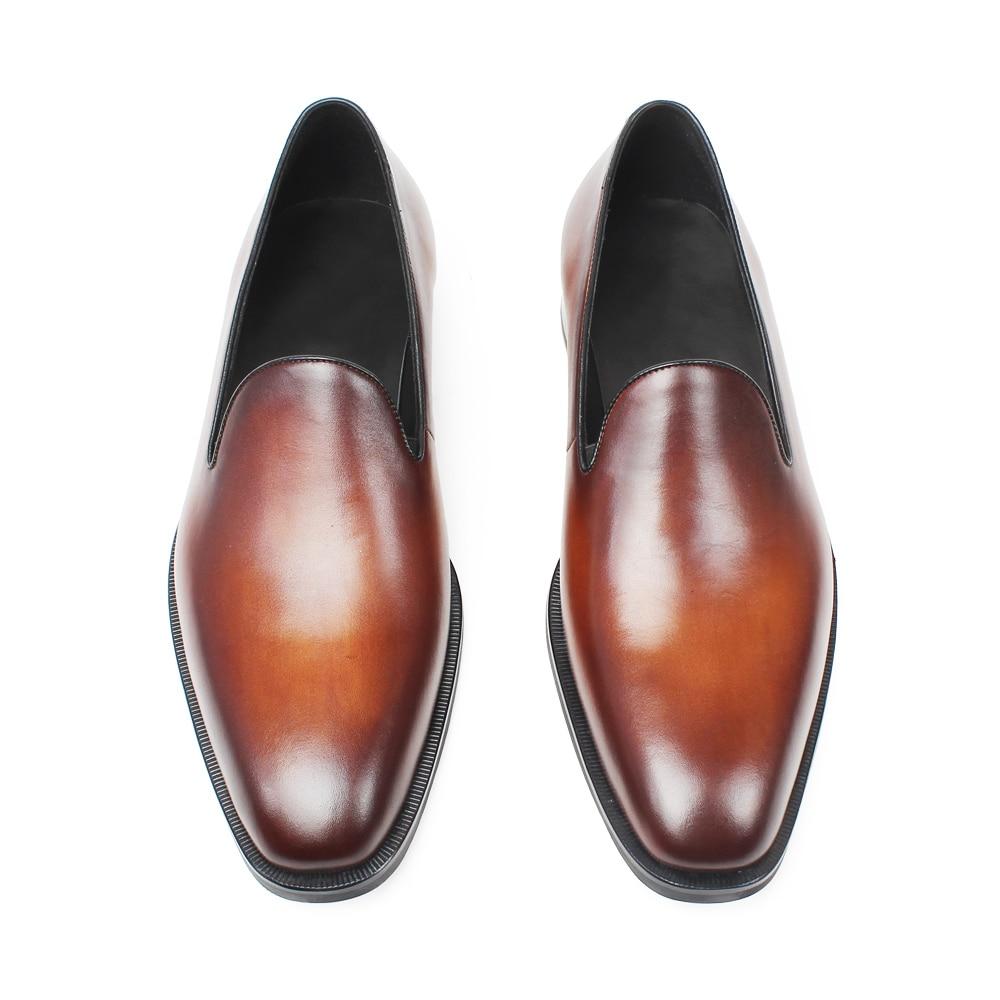 Vintage Genuíno Hombre Sapato Sapatos Couro Verão Sólidos Brown Casamento Vikeduo Escritório De Masculino Moda Zapatos Homens Do Dos Clássico Mocassins cwpUqwvS6