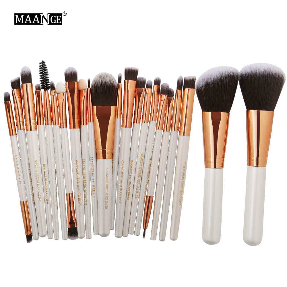 MAANGE 22Pcs Pro Makeup Brushes Set Comestic Foundation Powder Blush Eyeshadow Eyeliner Lip Maquiagem Beauty Make up Brush Tool maange 22 pcs pro makeup brush kit powder foundation eyeshadow eyeliner lip make up brushes set beauty tools maquiagem