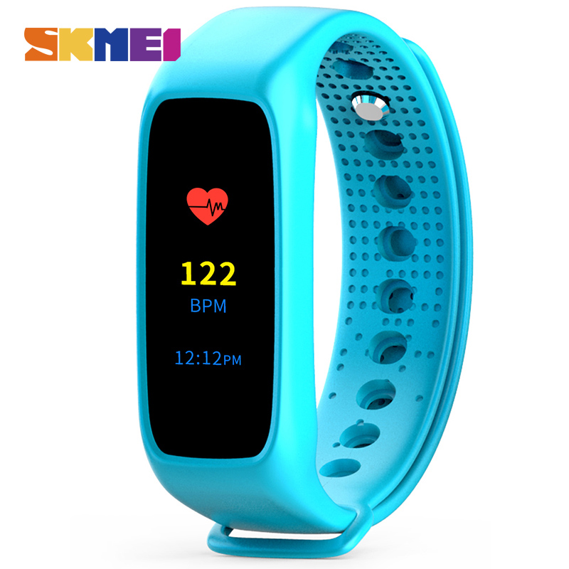 SKMEI Men Sport Smart Wristband L30T Color Screen Heart Rate Monitor LED Display Watch Touch Screen