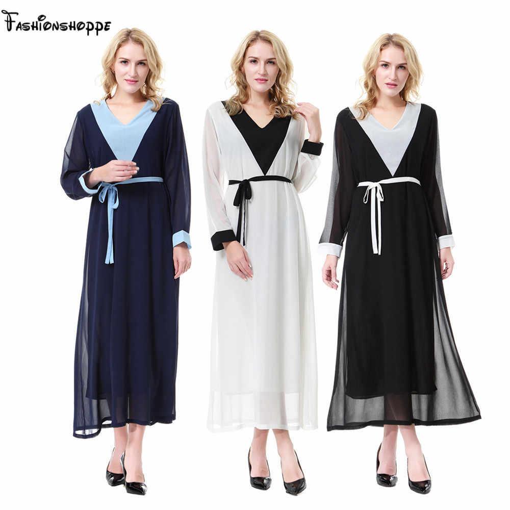 8a06b018e1bfdc Elegant Muslim Women Abaya Maxi Dress Islamic Tunic Long Robes Gown  Jalabiya Middle East Kaftan Moroccan
