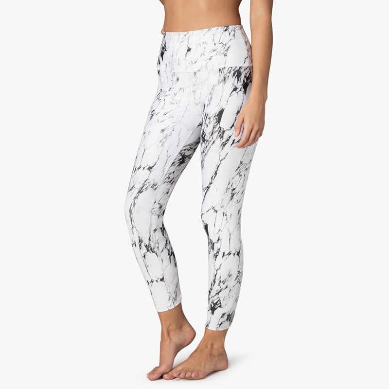 CHRLEISURE wysokiej talii zestaw damski Casual Gradient Patchwork Fitness legginsy drukowanie Slim Sexy długie spodnie wypracować zestaw Push Up