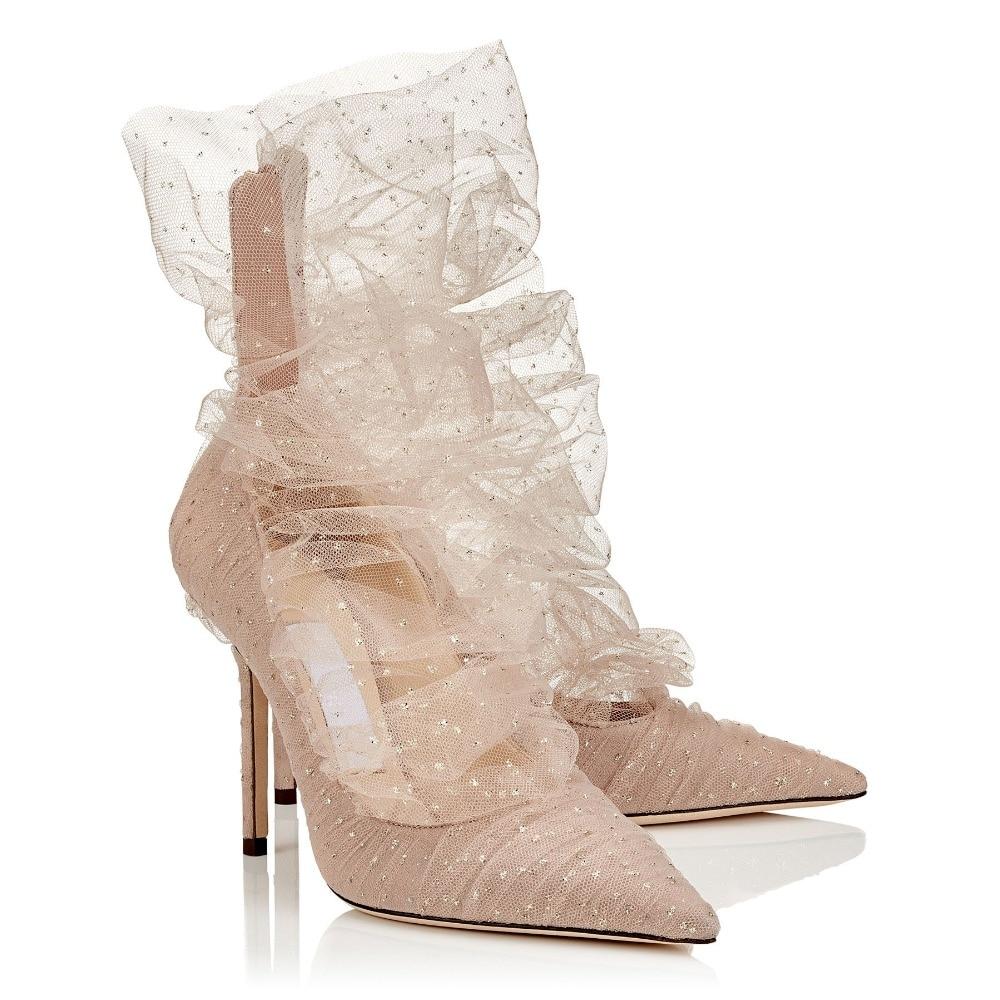 À Marque Zapatos Hee Luxe nude Tulle Haute Pompes De Femmes 9cm Superposition Slipona 9cm Black Chaussures D'été Mujer Suede Avec Printemps Paillettes T8OqgpXw