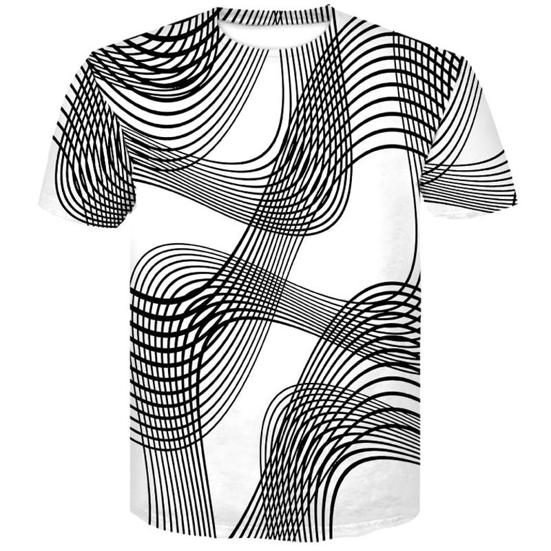 3D t-shirt  Style Fashion Print Short sleeve Men Black And White Vertigo Hypnotic colorful 2019 Summer Printing tshirt homme