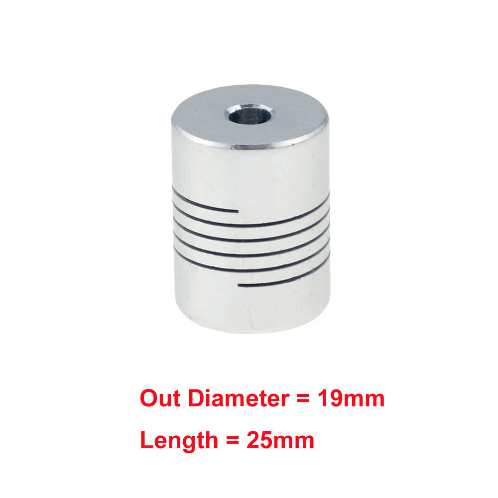 1 pièces 5x8mm CNC Moteur Mâchoire Coupleur D'arbre 5mm À 8mm Accouplement Flexible D'OD 19x25mm en gros livraison directe 3/4/5/6/6.35/7/8/10mm