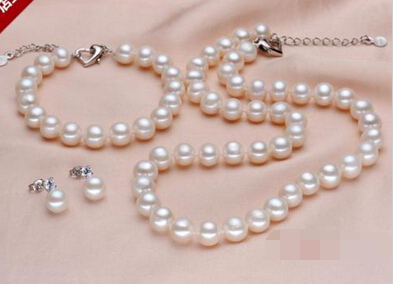 Free shipping .656 Natural AA+ white 9-10MM Akoya pearl necklaces&bracelets&earringFree shipping .656 Natural AA+ white 9-10MM Akoya pearl necklaces&bracelets&earring