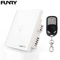 Funry ST1 1Gang UK Standard Smart Switch Remote Control Touch Wall Lamp Panel Surface Waterproof Crystal