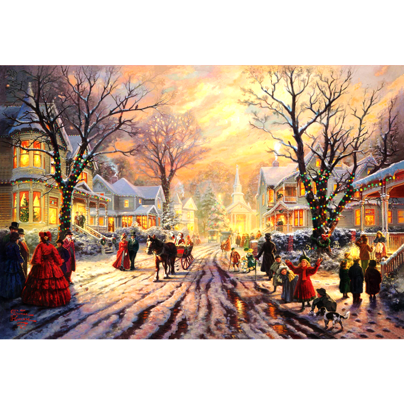 Cutiepop DIY 5D Diamond Painting Snow Landscape Christmas Full Diamond Mosaic Scenery diamond Embroidery rhinestones GiftsCutiepop DIY 5D Diamond Painting Snow Landscape Christmas Full Diamond Mosaic Scenery diamond Embroidery rhinestones Gifts