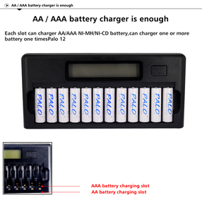 Image 5 - سريع الذكية 12 فتحات NIMH NICD AA/AAA الذكية LCD شاحن بطارية ل 1 ~ 12 قطعة AA أو AAA NiMH NICD بطاريات قابلة للشحن