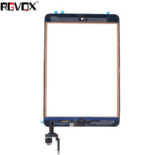 NEW Mini3 Touch Screen Digitizer For iPad Mini 3 A1599 A1600 A1601 TP IC with Home Button and Adhesive Front Glass Replacement 10pcs dhl free checked for ipad mini 3 mini3 a1599 a1600 lcd screen digitizer panel assembly replacement part