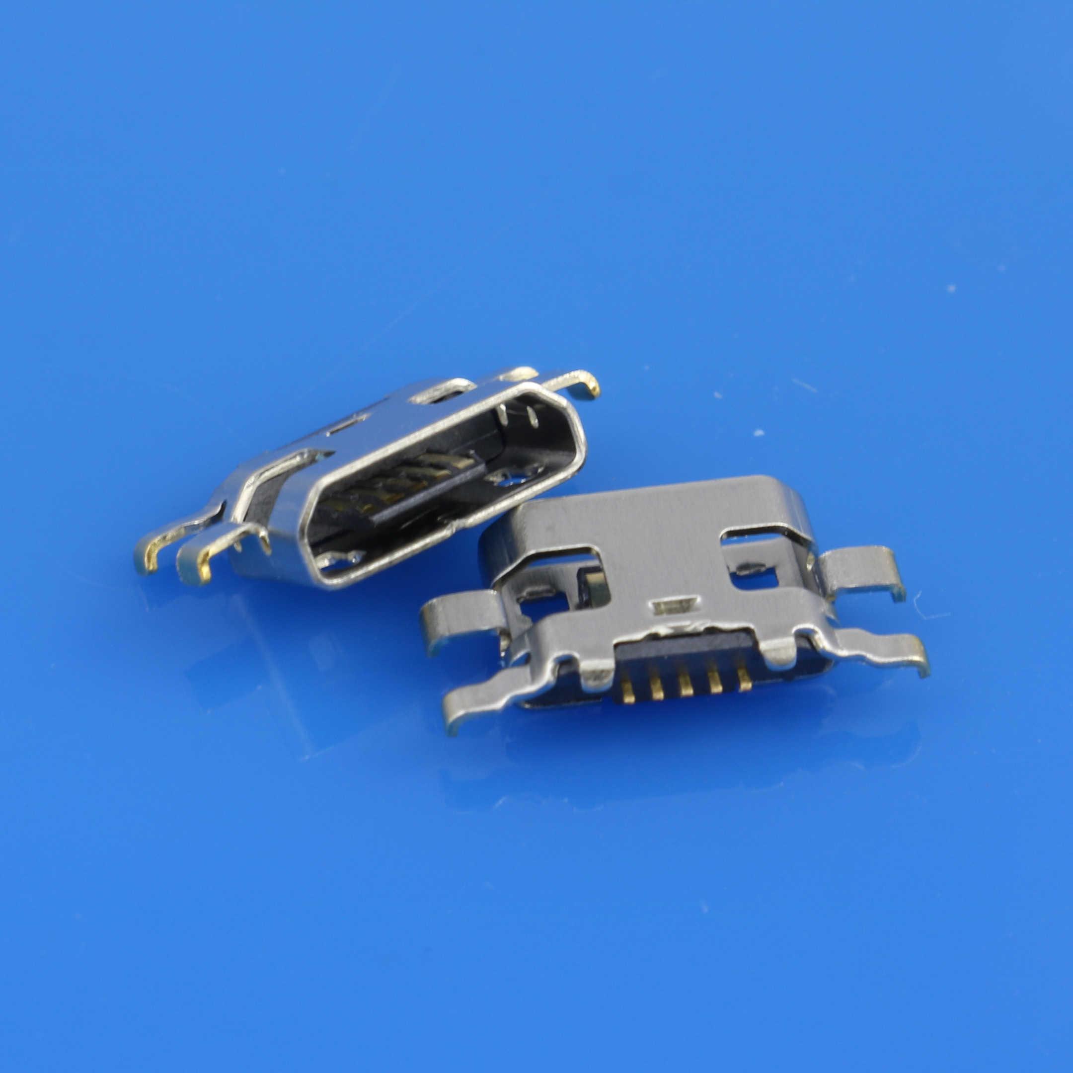JCD 15 ชิ้น/ล็อต Micro mini USB DC แจ็คซ็อกเก็ตขั้วต่อชาร์จพอร์ต 5 Pin ปลั๊กทดแทนสำหรับ moto C PLUS