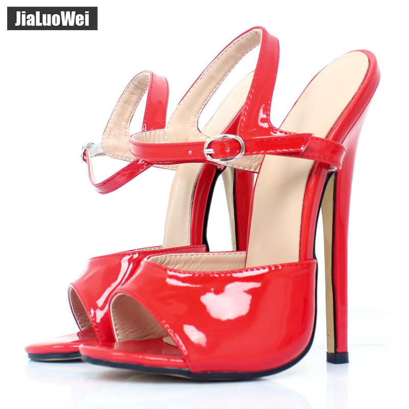 18cm/7 inch high heel Unisex sandals Sexy Ankle Strap high-heeled shoes summer women sandals fashion party prom shoes Plus size women stiletto square high heel ankle strap sandals summer sexy fashion ladies heeled footwear heels shoes size 34 43 p17742