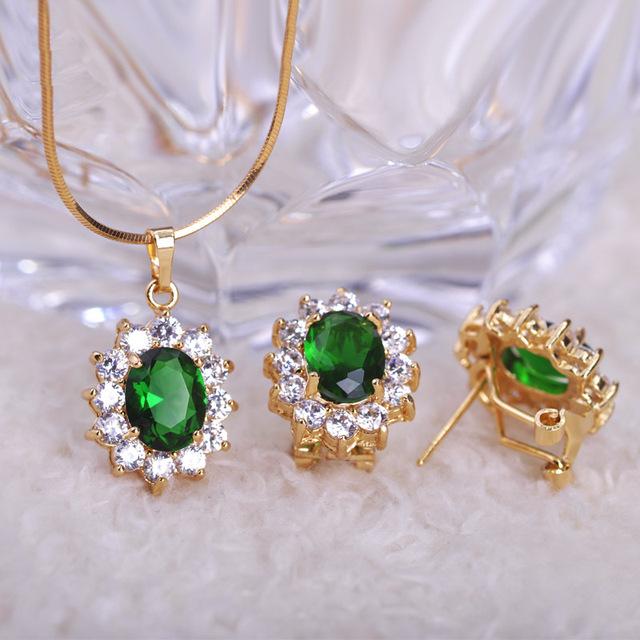 Azul Verde Conjuntos de Jóias de Casamento Colares Bijuterias Colares & Orelhas Brincos Pendientes brincos Violetta Vaz