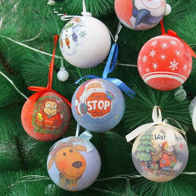 7cm foam upscale christmas balls indian painting painted christmas tree ornaments christmas balls painted figure - Christmas Balls Ornaments