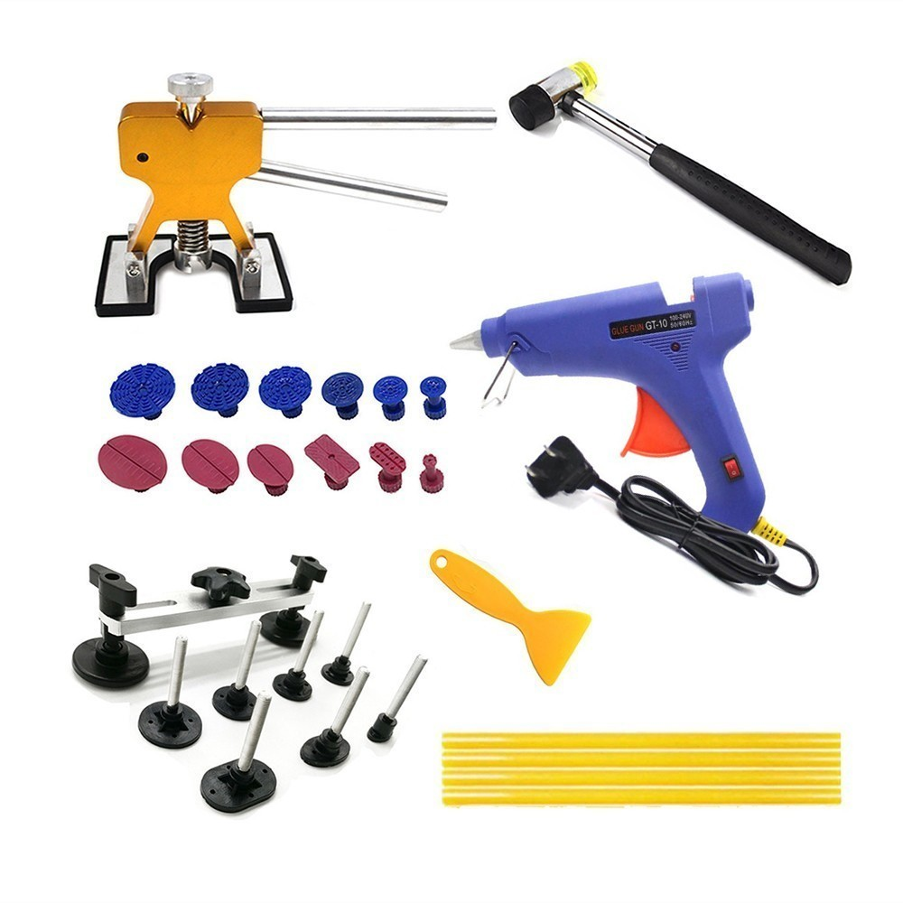 PDR Tools Kit Car Dent Removal Paintless Dent Repair Tools Pulling Bridge Dent Lifter Glue Tabs Suction Cup Hand Tools Set pdr tools paintless dent repair car repair tool set dent removal mini lifter bridge puller glue tabs fungi suction cups for dent