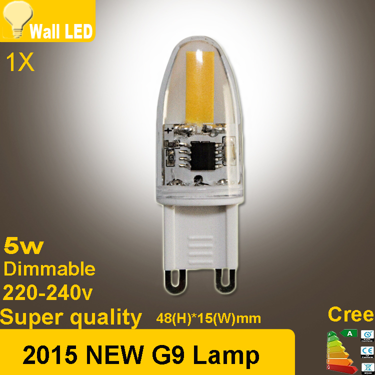 2015 NEW g9 COB led 5W AC 220V 240V G9 led lamp Led bulb 1505 LED g9 ...
