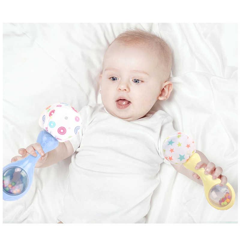 Детская игрушка-погремушка с разноцветными бусинами, мягкие колокольчики для новорожденных, звездный узор, кольцо, колокольчик, обучающая пластиковая игрушка для мобильных телефонов
